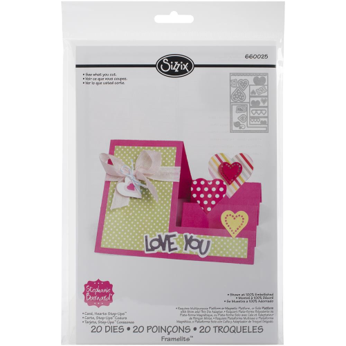 Sizzix Framelits - Hearts Step-Ups Card