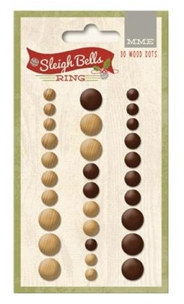 Sleigh Bells Ring Self-Adhesive Wood Dots