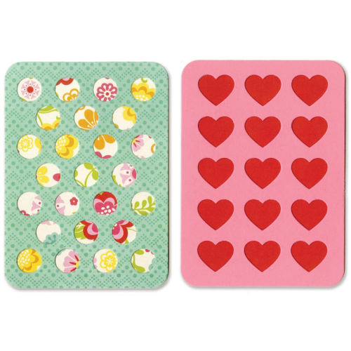 "Sizzix Thinlits 3""X4"" Cards - Hearts/Circles"