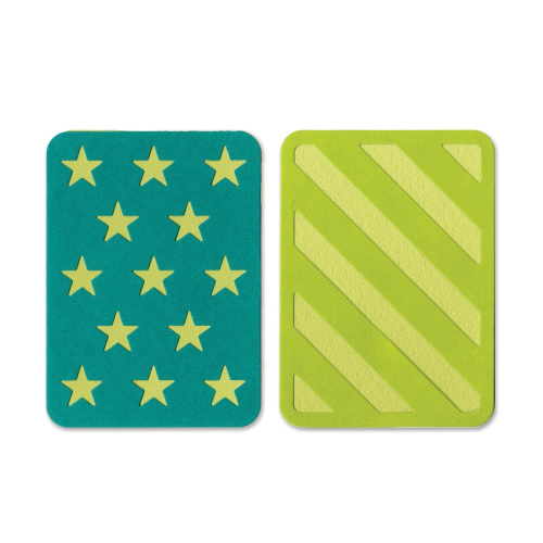 "Sizzix Thinlits 3""X4"" Cards - Stars/Stripes"