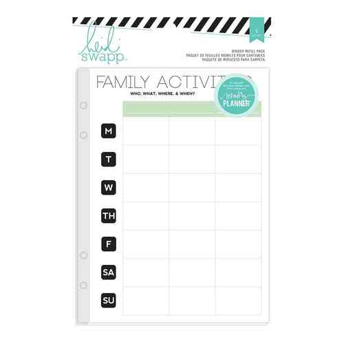Heidi Swapp Memory Planner Binder Refill - Family Activities