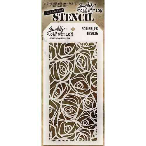 Tim Holtz Layered Stencil - Scribbles