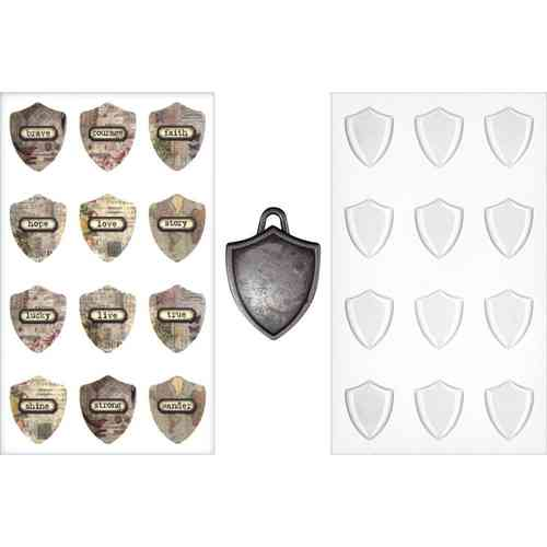 Tim Holtz - Antique Metal Charms Shield