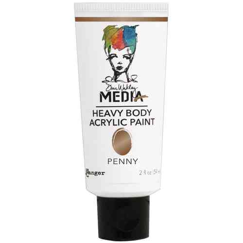 Dina Wakley Media Heavy Body Acrylic Paint - Penny