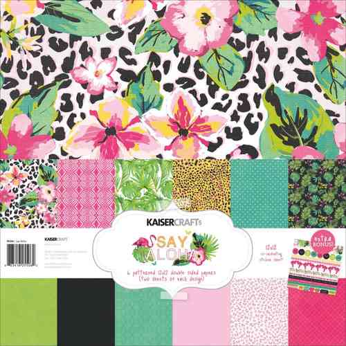 "Say Aloha Paper Pack 12""x12"""