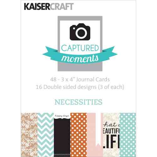 "Necessities Double-Sided Cards 3""X4"""