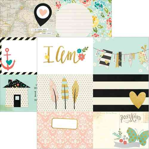 "I Am Gold Foil Cardstock - 4""X6"" Horizontal Journaling Cards"