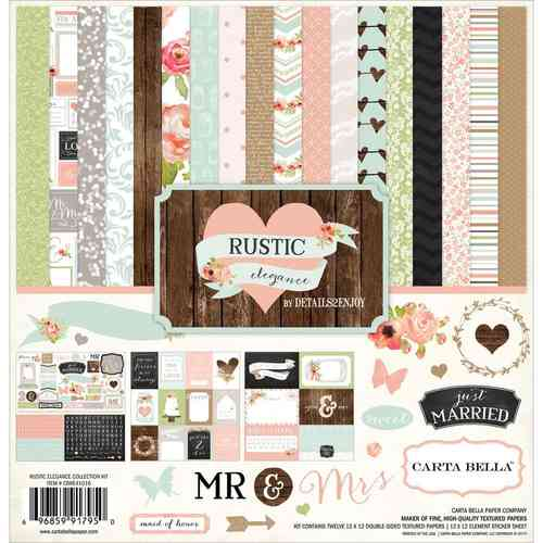 "Rustic Elegance Collection Kit 12""x12"""