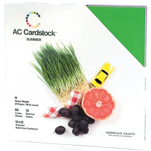 "American Crafts Cardstock Pack 12""X12"" - Textured Summer"