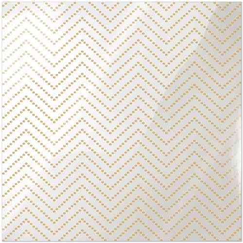Clearly Posh Acetate Sheet - Chevron Dot with Gold Foil