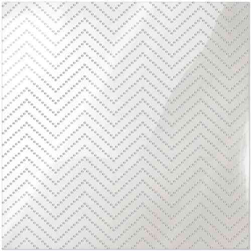 Clearly Posh Acetate Sheet - Chevron Dot with Silver Foil