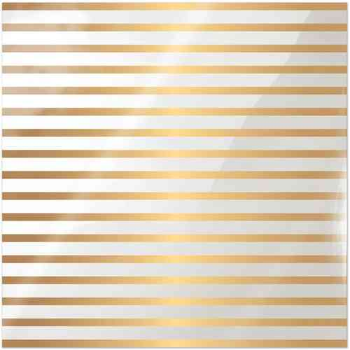 Clearly Posh Acetate Sheet - Stripe with Gold Foil