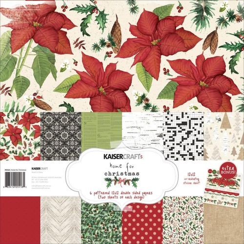 "Home for Christmas Paper Pack 12""x12"""