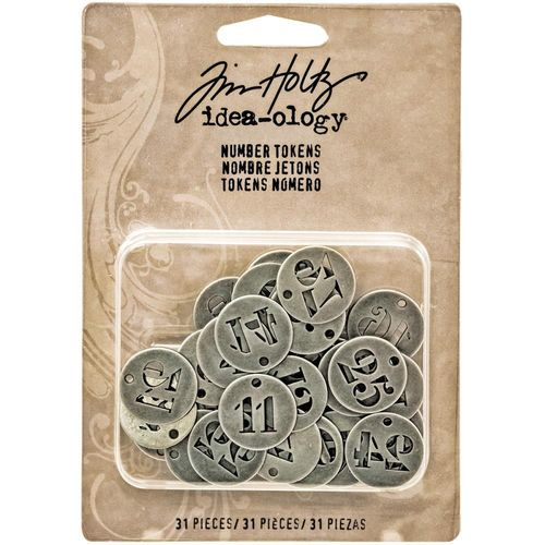 Tim Holtz Tokens - Number Charms