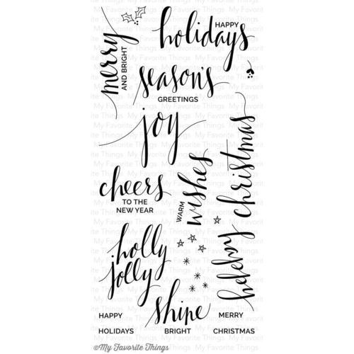 Clear - Hand Lettered Holiday