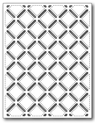 Stanzschablone Stitched Lattice Background