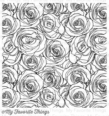 Cling Roses All Over Background