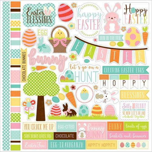 "Easter Element Cardstock Stickers 12""X12"""