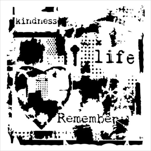 "Schablone Life Remembered 6"" x 6"""