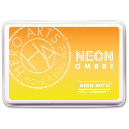 Hero Arts Ombre Ink Pad - Neon Yellow to Orange