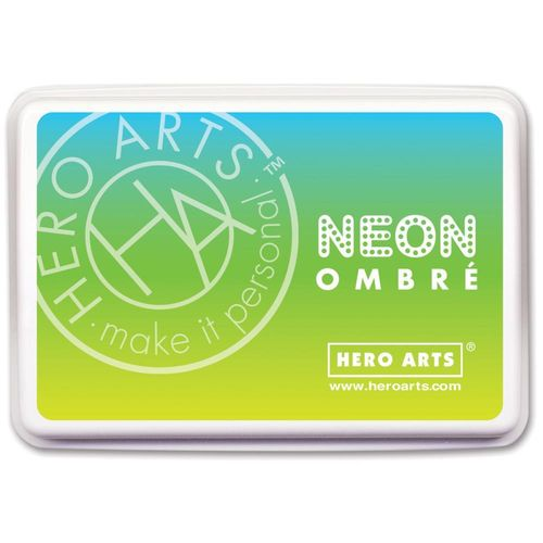 Hero Arts Ombre Ink Pad - Neon Chartreuse to Blue