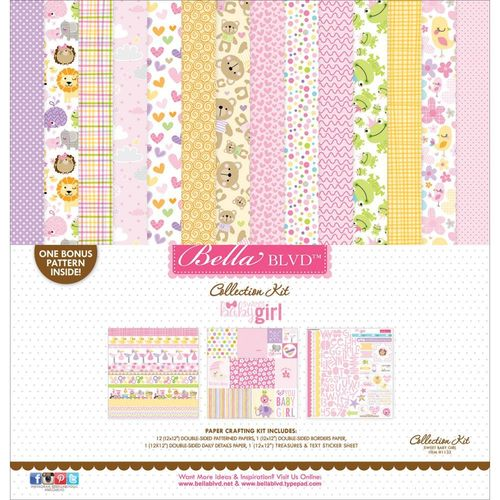 "Sweet Baby Girl Collection Kit 12""x12"""