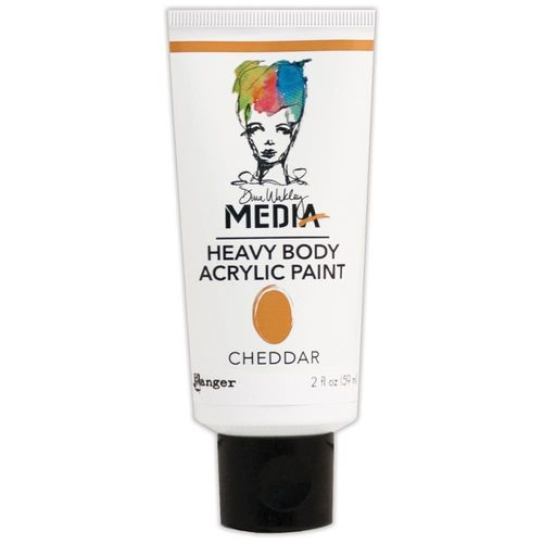 Dina Wakley Media Heavy Body Acrylic Paint - Cheddar