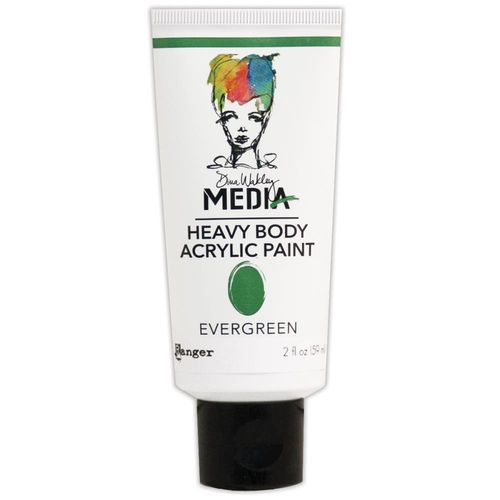 Dina Wakley Media Heavy Body Acrylic Paint - Evergreen