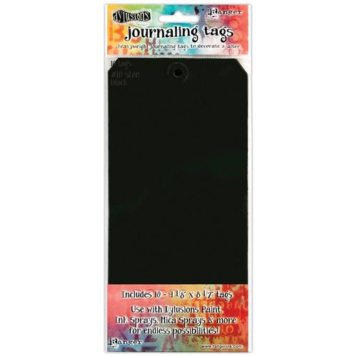 Dylusions Journal Tags - Black #10