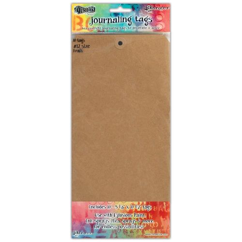 Dylusions Journal Tags - Kraft #12