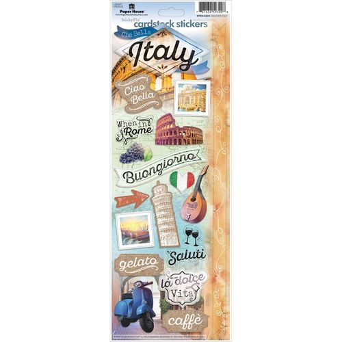 Discover Italy Cardstock Sticker