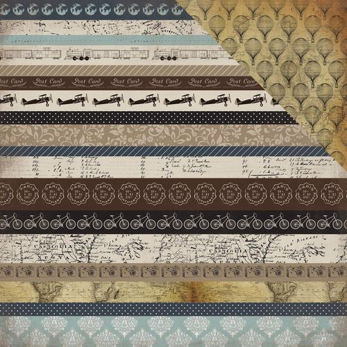 Papier Old World Travel - Border Strips