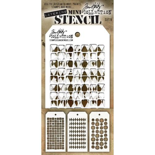 Tim Holtz Mini Layered Stencil Set #9