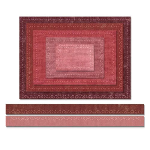 Sizzix Thinlits - Tim Holtz Stitched Rectangles