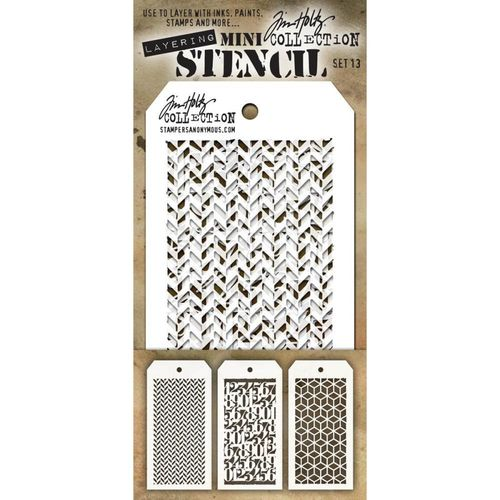Tim Holtz Mini Layered Stencil Set #13