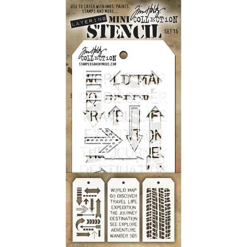 Tim Holtz Mini Layered Stencil Set #15