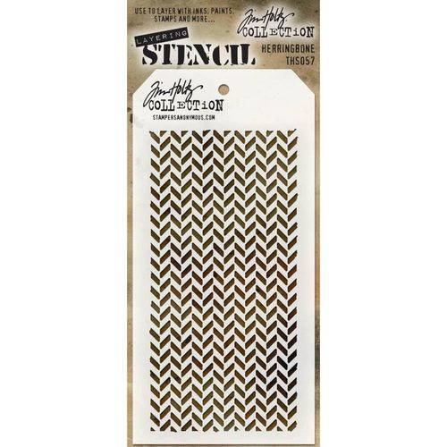 Tim Holtz Layered Stencil - Herringbone