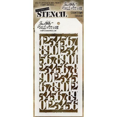 Tim Holtz Layered Stencil - Countdown