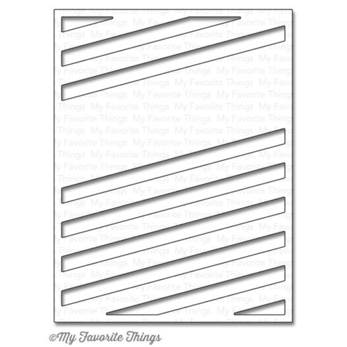 Stanzschablone - Diagonal Sentiment Strip Cover-Up