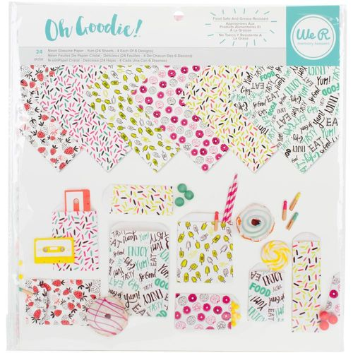 "We R Memory Keepers Glassine Paper Pack 12""X12"" - Yum"