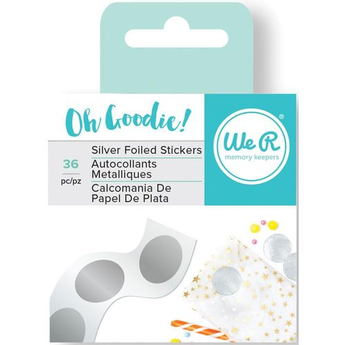 Oh Goodie! Foil Stickers - Silver Circle