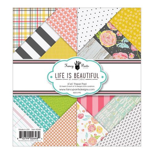 "Life Is Beautiful Pad 6""X6"""