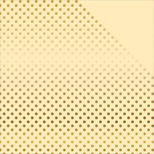 Foiled Dots & Stripes Cardstock - Cream/Gold