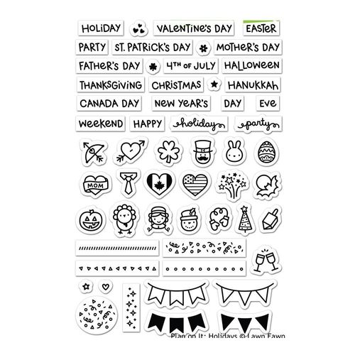 Clear Stamp - Plan On It Holidays