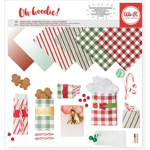 "We R Memory Keepers Glassine Paper Pack 12""X12"" - Holiday Basics"