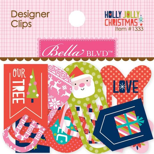 Holly Jolly Christmas Designer Clips