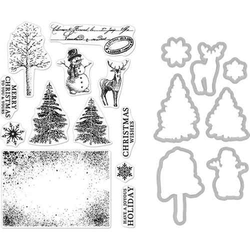 Clear Stamp & Die Combo - Vintage Wishes