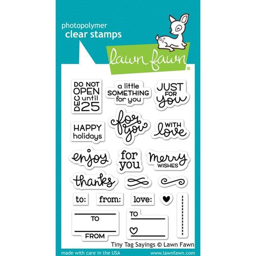 Clear Stamp - Tiny Tag Sayings