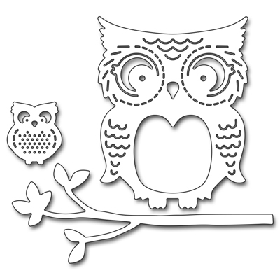 Stanzschablone Mommy & Me Owls