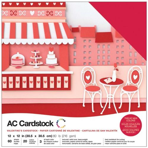 "American Crafts Cardstock Pack 12""X12"" - Valentines"